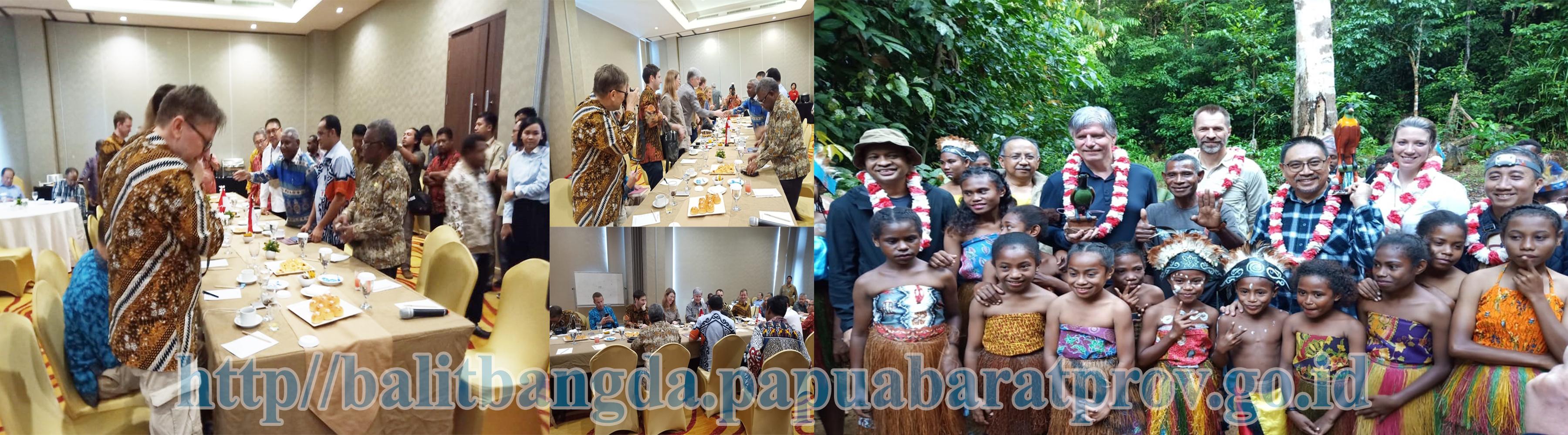 Sambutan Selamat Datang Gubernur Papua Barat kepada Rombongan Mentri Iklim dan Lingkungan Hidup Kerajaan Norwegia di Sorong Papua Barat
