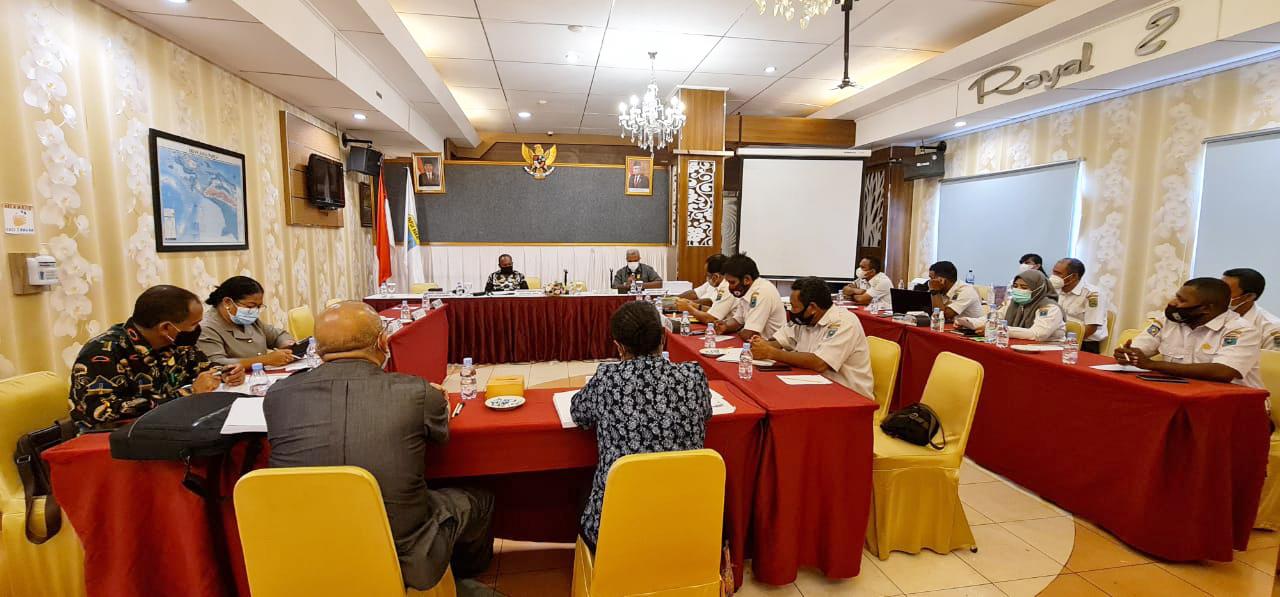 Pertemuan Kaban Balitbangda Provinsi Papua Barat Bersama Anggota Komisi V DPR Papua Barat