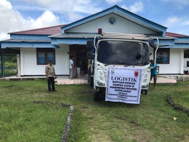 Pendistribusian Bahan Pokok Jaring Pengaman Sosial Tahap II Kabupaten Manokwari Selatan