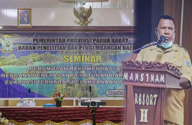 Balitbangda Papua Barat Target 5 Regulasi Selesai Tahun 2021