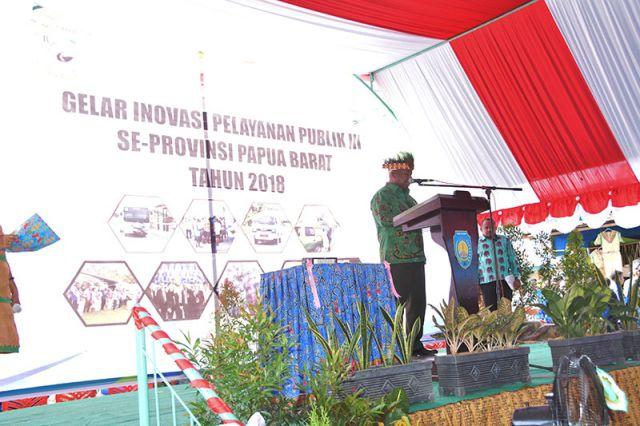 Gubernur Membuka Gelar Inovasi Daerah Provinsi Papua Barat